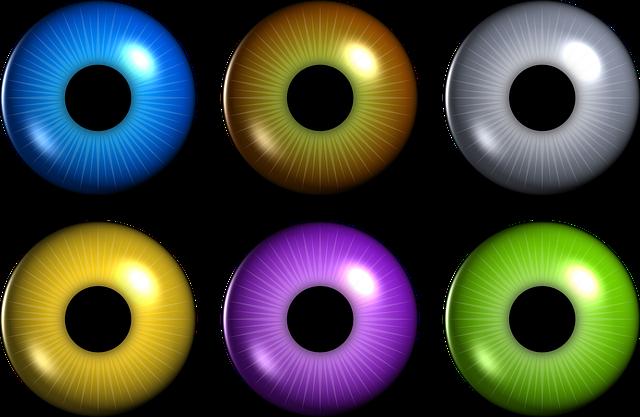 barevné duhovky