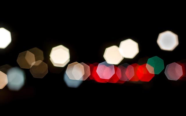 rozostřený světla