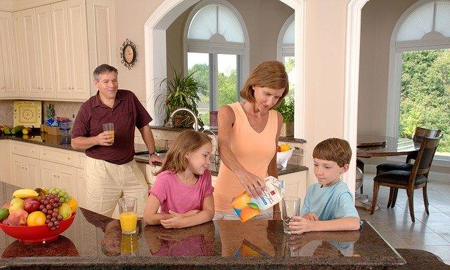 kuchyně jako místo pro rodinný život
